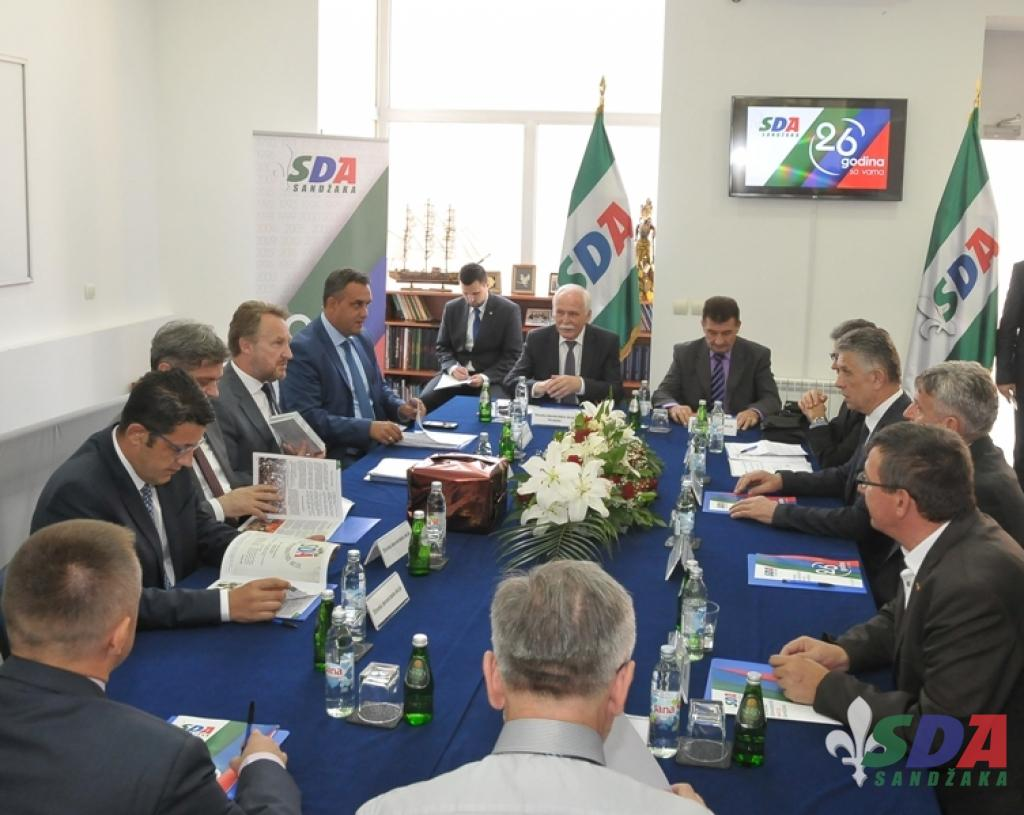 Sastanak koordinacije SDA u Novom Pazaru